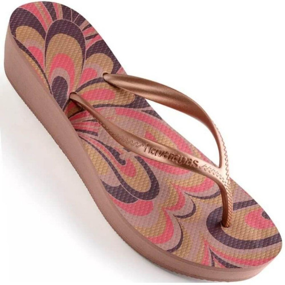 Chinelo Havaianas High Light Plataforma Feminino