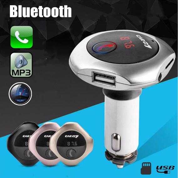Sem Fio Bluetooth Mãos Livres Lcd Fm Transmissor Mp3 Player