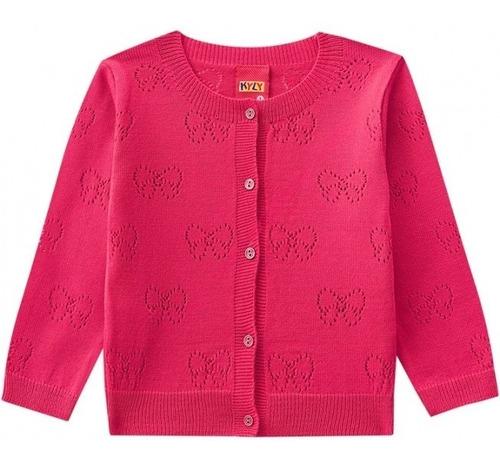 Cardigã Infantil Em Tricot Menina