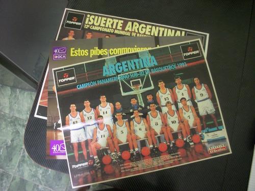 Imagen 1 de 5 de Poster De Basquet Lote De La Seleccion Argentina