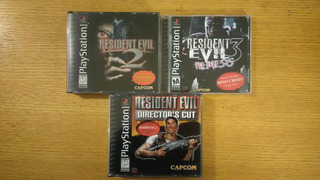 Resident Evil 1 2 3 Nemesis Dual Shock Ps1 Ps2 Ps3 Lote Psx