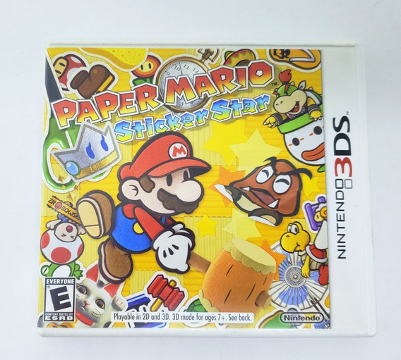 Jogo Nintendo Paper Mario Sticker Star - 3ds (semi-novo)