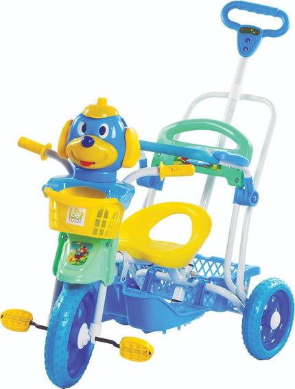 Triciclo Infantil Cabeça De Cachorro Vira Gangorra Bel Fix