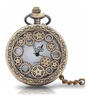 1 Reloj De Bolsillo Con Cadena Estilo Vaporizador Antiguo Pa