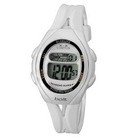 Relógio Feminino Digital Cosmos Os48489b - Branco