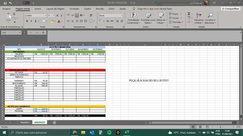 Imagem 1 de 10 de Planilhas Excel!