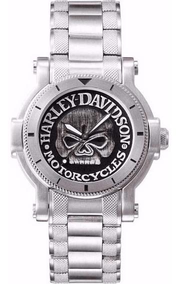 Harley Davidson Skull Calavera Para Hombre By Bulova 76a11