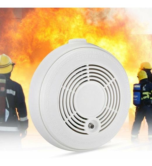 Alarma Detector De Humo Inalámbrico, Autónomo 9v X2 Un Pilar