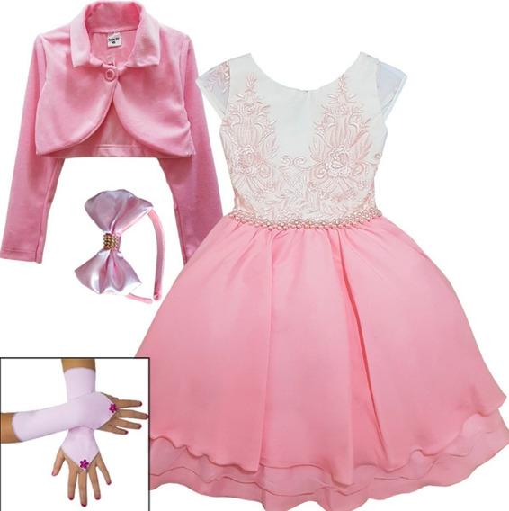 Vestido Infantil Princesa Festa Dama Casamento Super Luxo