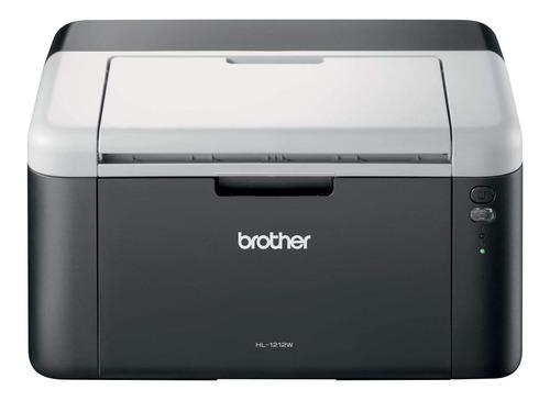 Impressora Brother HL-1 Series HL-1212W com wifi 110V preta e branca