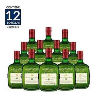 Whisky Buchanans De Luxe 12años De 750ml. Cj 12pzas.