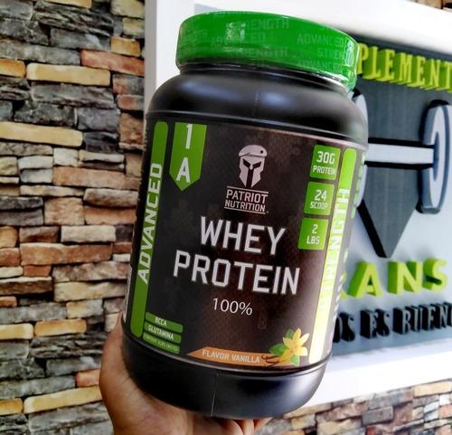 Whey Protein 2 Libras Patriot Nutrición Aumento Sin Grasa