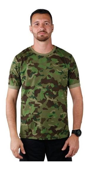 Camiseta Masculina Soldier Camuflado Tropical Bélica