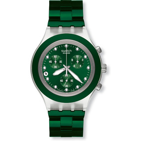 Relógio Swatch Full Blooded Verde Svck4043ag