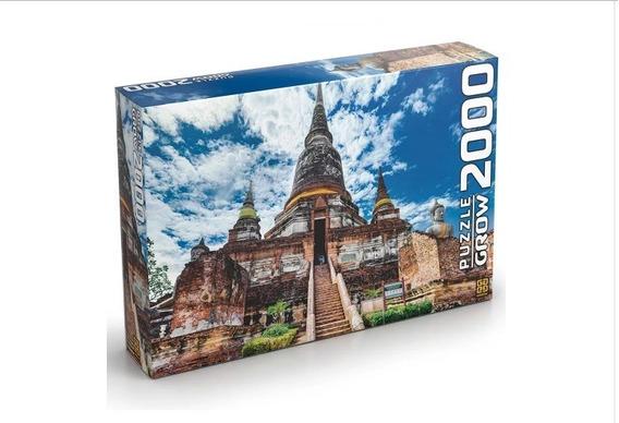 Quebra Cabeça 2000 Peças Templo Tailandês - Grow 3461