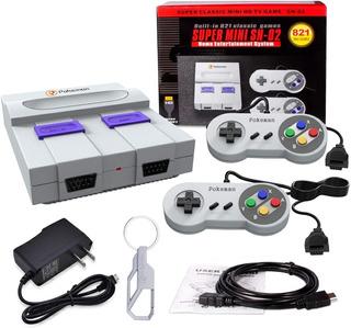 Consola Retro Snes Super Nintendo 821 Juegos