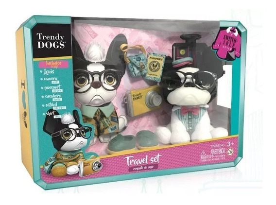 Juguete Peluche Perro Accesorios Set Trendy Dogs Babymovil