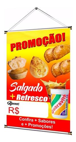 Banner Pronto Temos Salgado + Refresco