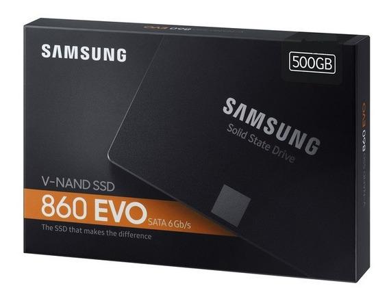 Ssd Samsung 860 Evo 500gb V-nand Sata3 6gb/s 2,5 550mb/s Nfe
