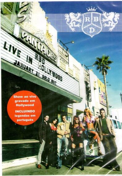 Dvd Rebeldes Live In Hollywood - Novo***