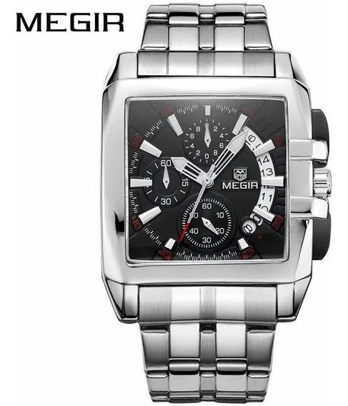 Relógio Megir 2018g + (casio Vintage Retrô Modelo A159-wa)