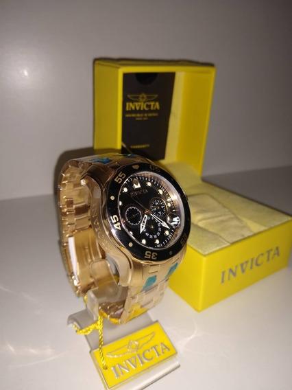 Relógio Invicta Pro Diver 0072 B. Ouro 18k Frete Gratis