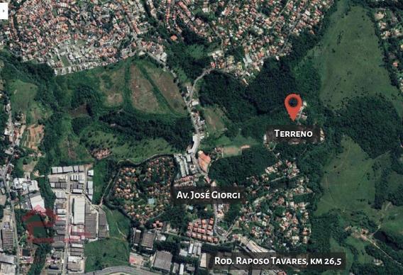 Terreno À Venda, 1200 M² Por R$ 480.000,00 - Granja Viana Ii - Cotia/sp - Te0302