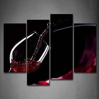 Primera Pared De Arte Pintura De Cuadros De Vino Tinto En El