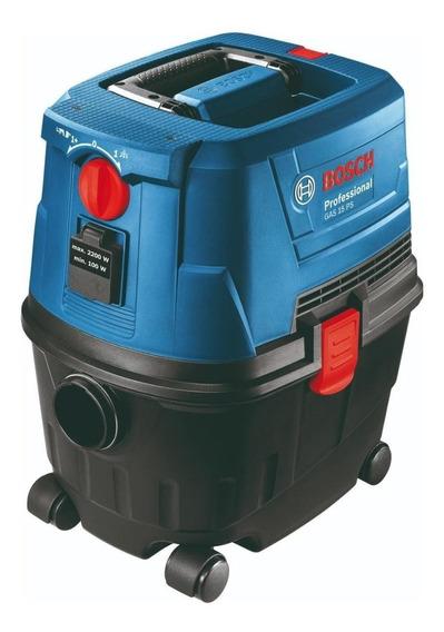 Aspiradora Bosch GAS 15 PS 15L azul, negra y roja 220V