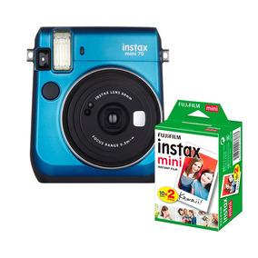 Câmera Instantânea Instax Fujifilm Mini 70 Azul + Filme 20