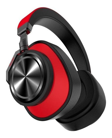 Fone Headphone Bluedio T6s Bluetooth 5 Sem Fio Ans Vermelho