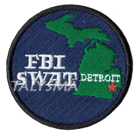 Patch Op. Especiais Fbi Swat Policia Federal Detroit Pl60169