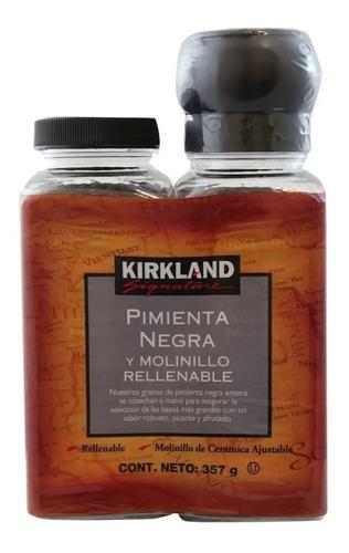 Pimienta Negra Y Molinillo Rellenable Kirkland Signature