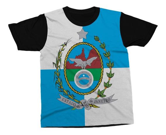 Camiseta Rio De Janeiro Estado Brasil Bandeira Blusa Camisa