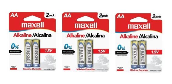 Pila Bateria Alcalina Aa Paquete De 6 Maxell