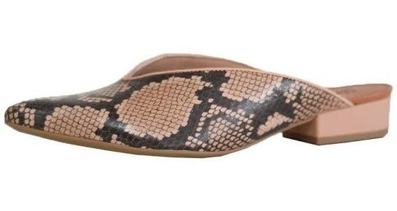Mule Feminino Usaflex Confortável Com Salto Baixo 6609