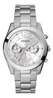 Reloj Pulso Fossil Es3883 Mujer Dama Fechero Acero Inoxidabl