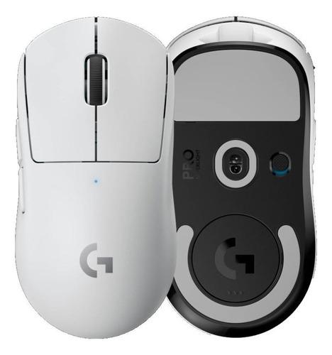 Imagen 1 de 1 de Mouse de juego inalámbrico recargable Logitech  Pro Series Pro X Superlight blanco