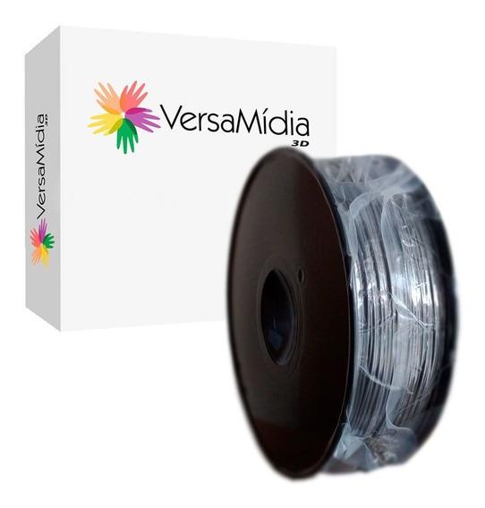 Filamento Pla Cinza Versamídia 3d Premium 1.75mm Black Spool