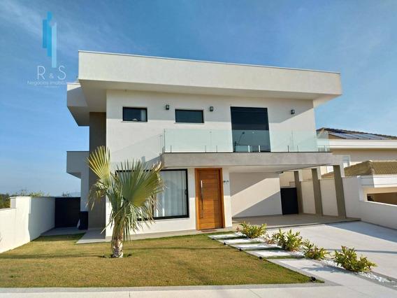 Linda Casa Com 3 Dormitórios À Venda, 303 M² Por R$ 1.870.000 - Condomínio Santa Isabel - Louveira/sp - Ca0218
