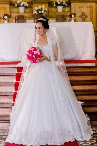 Vestido De Casamento - Modelo Rebeca - Brinde Armação Godê
