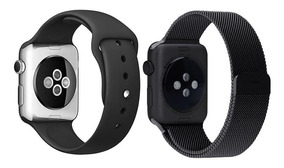 Pulseira Milanese + Pulseira Silicone P/ Apple Watch 38-44mm