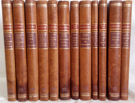 Coleção Educação 12 Volumes Raros Antigos Melhoramentos