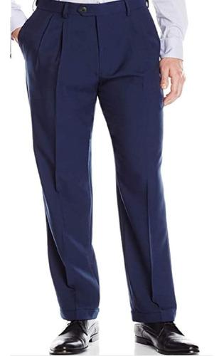 Pantalon Azul Alpaca Pinzado Vestir