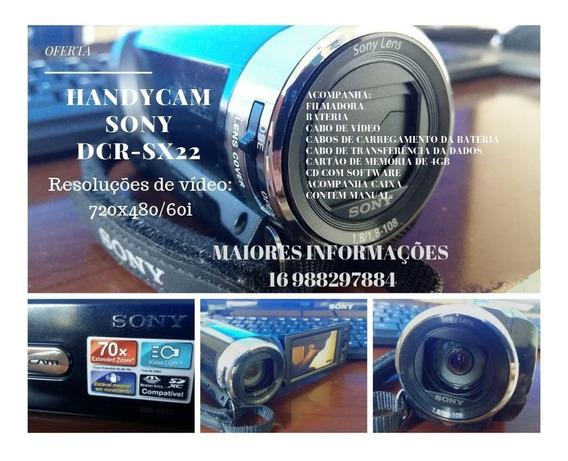 Filmadora Handycam Sony Dcr-sx22 70x Zoom