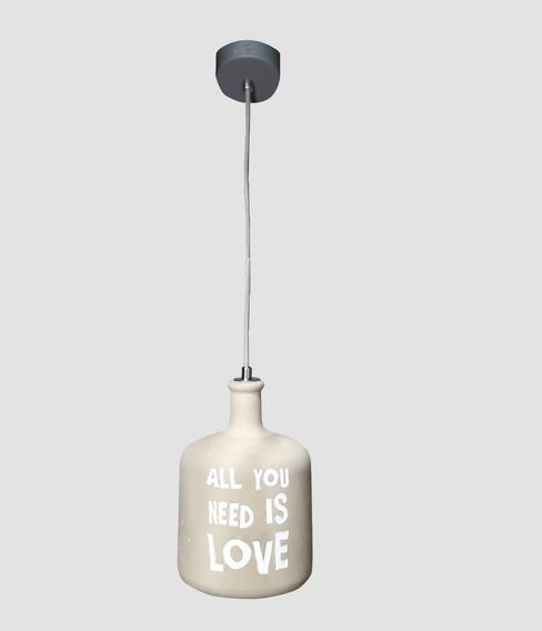 Lampara Colgante Decorativa Lennon Hierro 40w