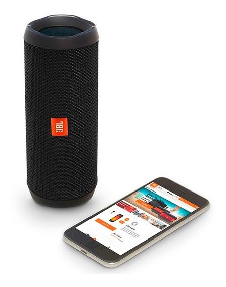 Caixa De Som Bluetooth Jbl Flip4 16w Preto -original