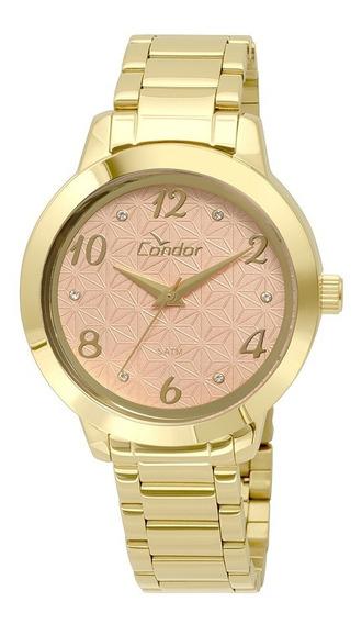 Relógio Condor Feminino Bracelete Dourado Co2036ksu/4x