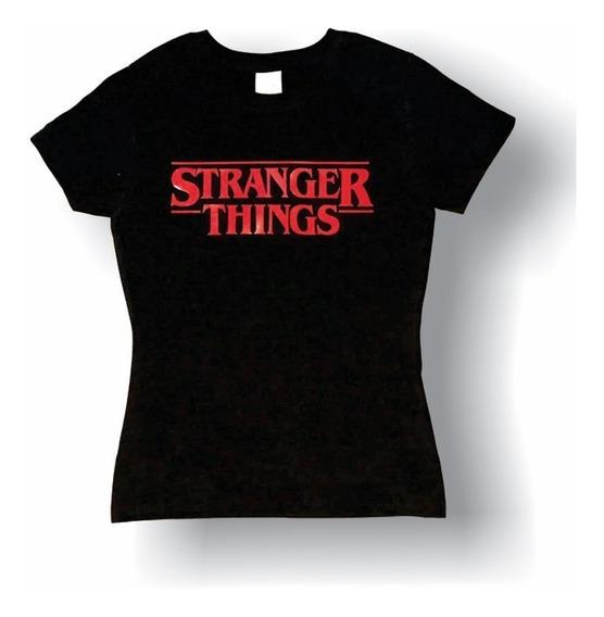 Stranger Things Playera Infantil Juvenil Logo Rojo Netflix