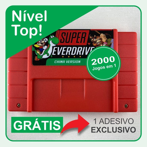 Cartucho Super Nintendo 2000 Em 1 Super Everdrive Sd 8gb